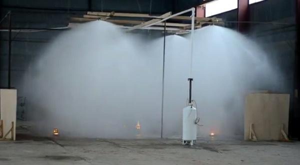 Пожаротушение высотного склада, выбор огнетушащего вещества