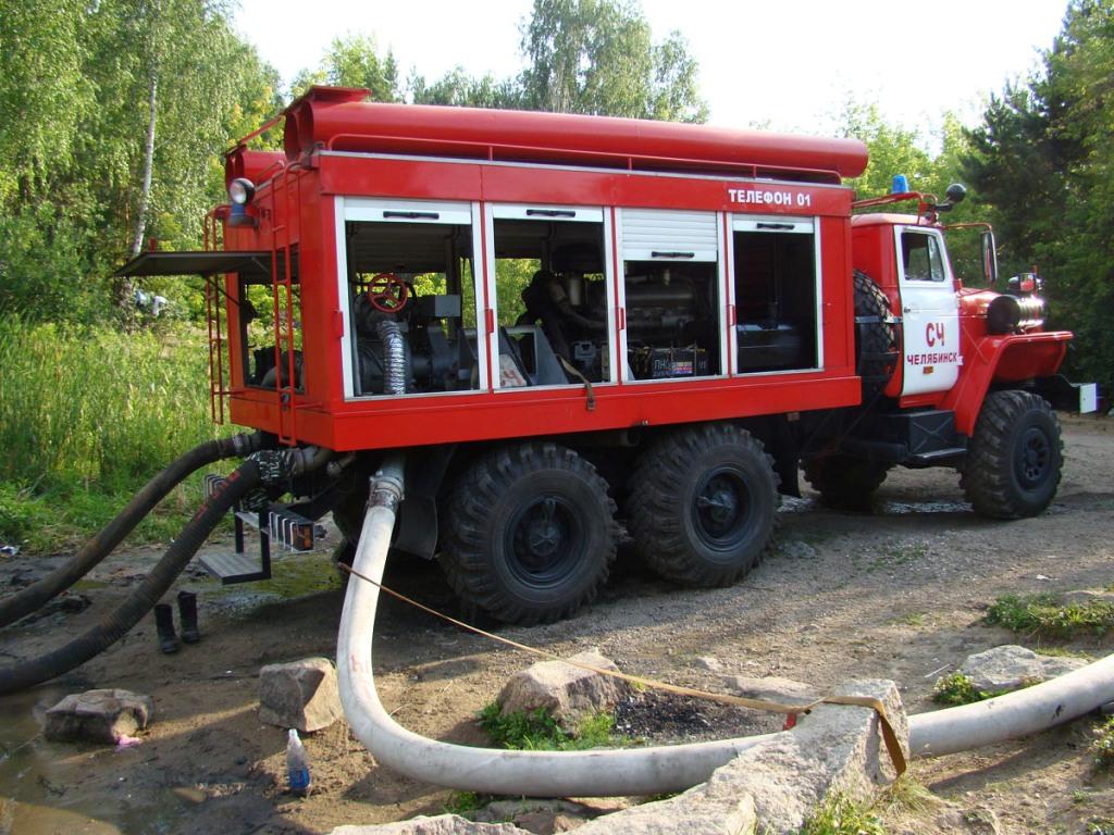 Подключение пожарной техники к насосной АПТ