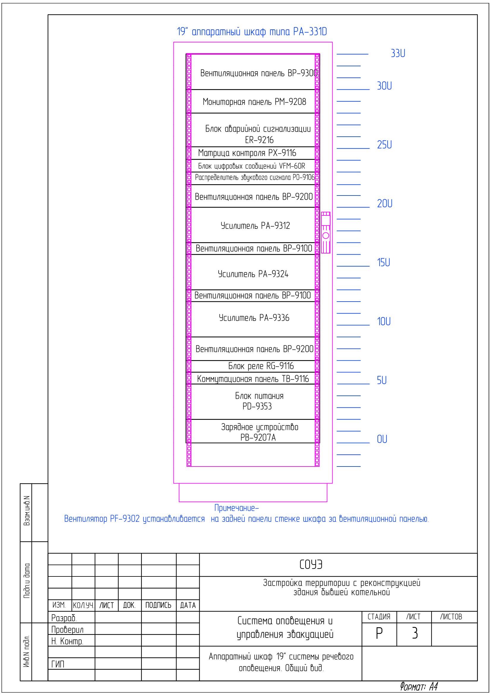 Проект СОУЭ3-го типа на оборудование фирмы Inter-M