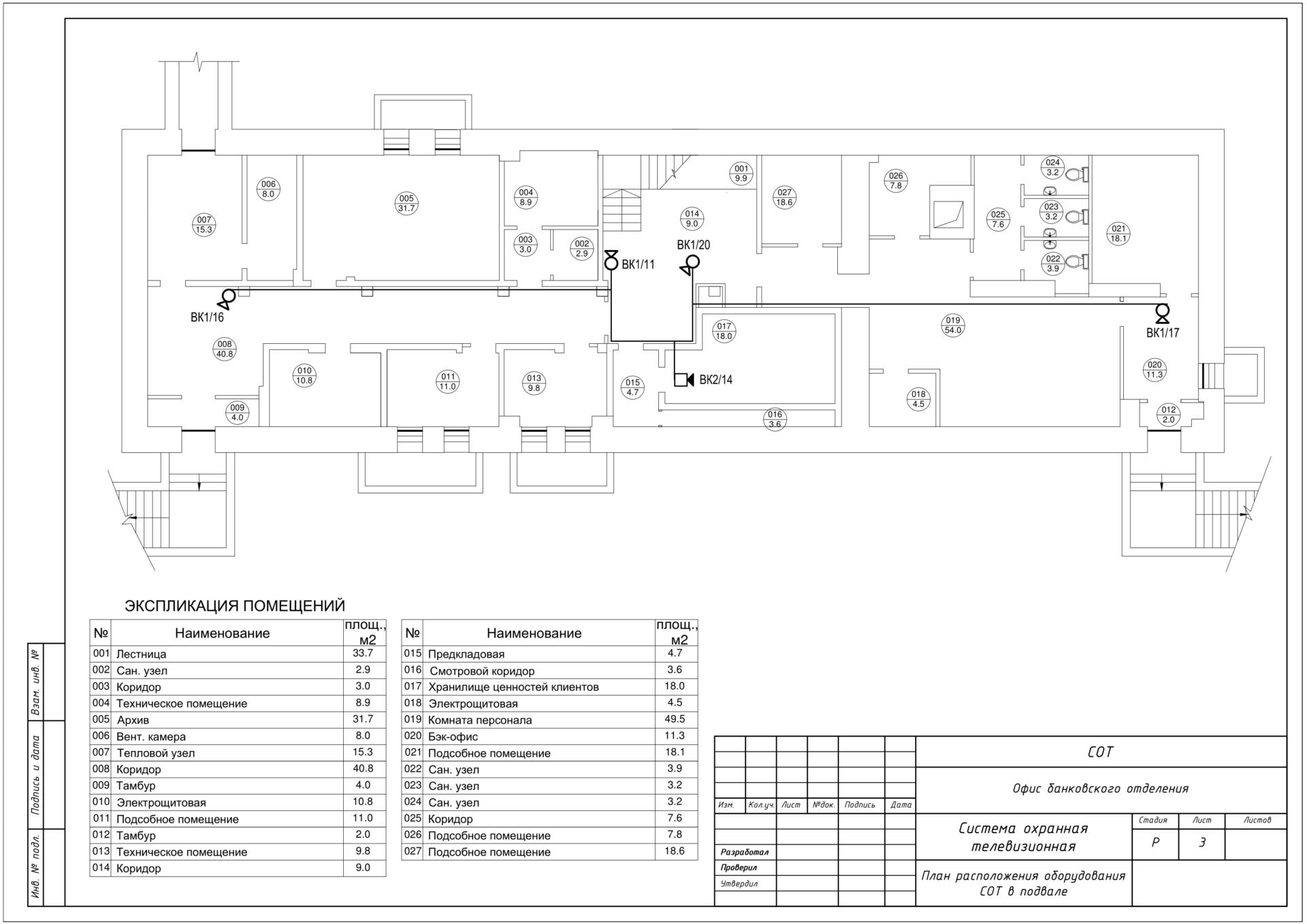 Проект системы охранной телевизионной (СОТ) офиса