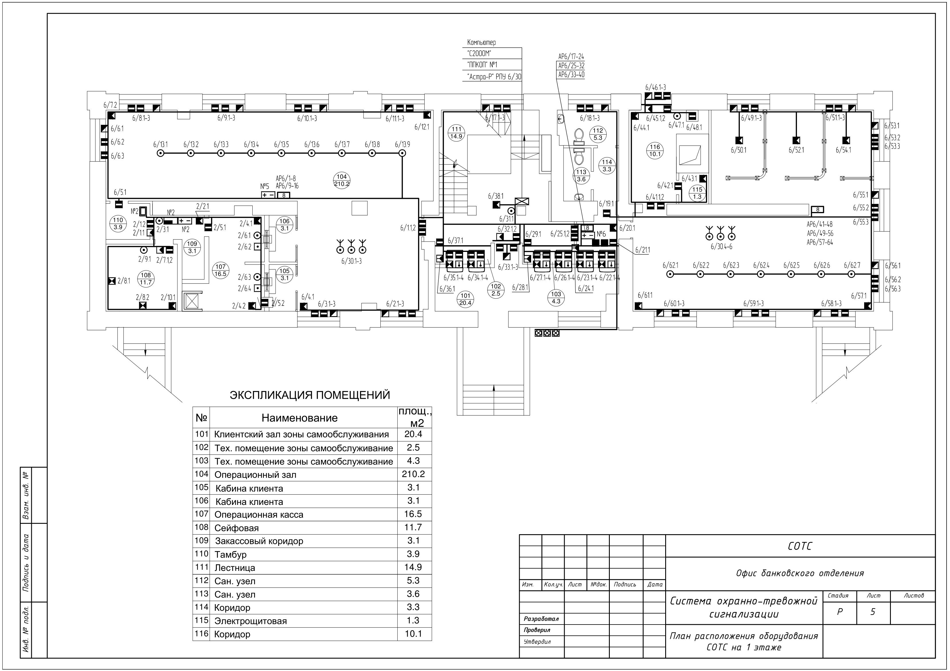 Проект охранной сигнализации офиса на Болиде