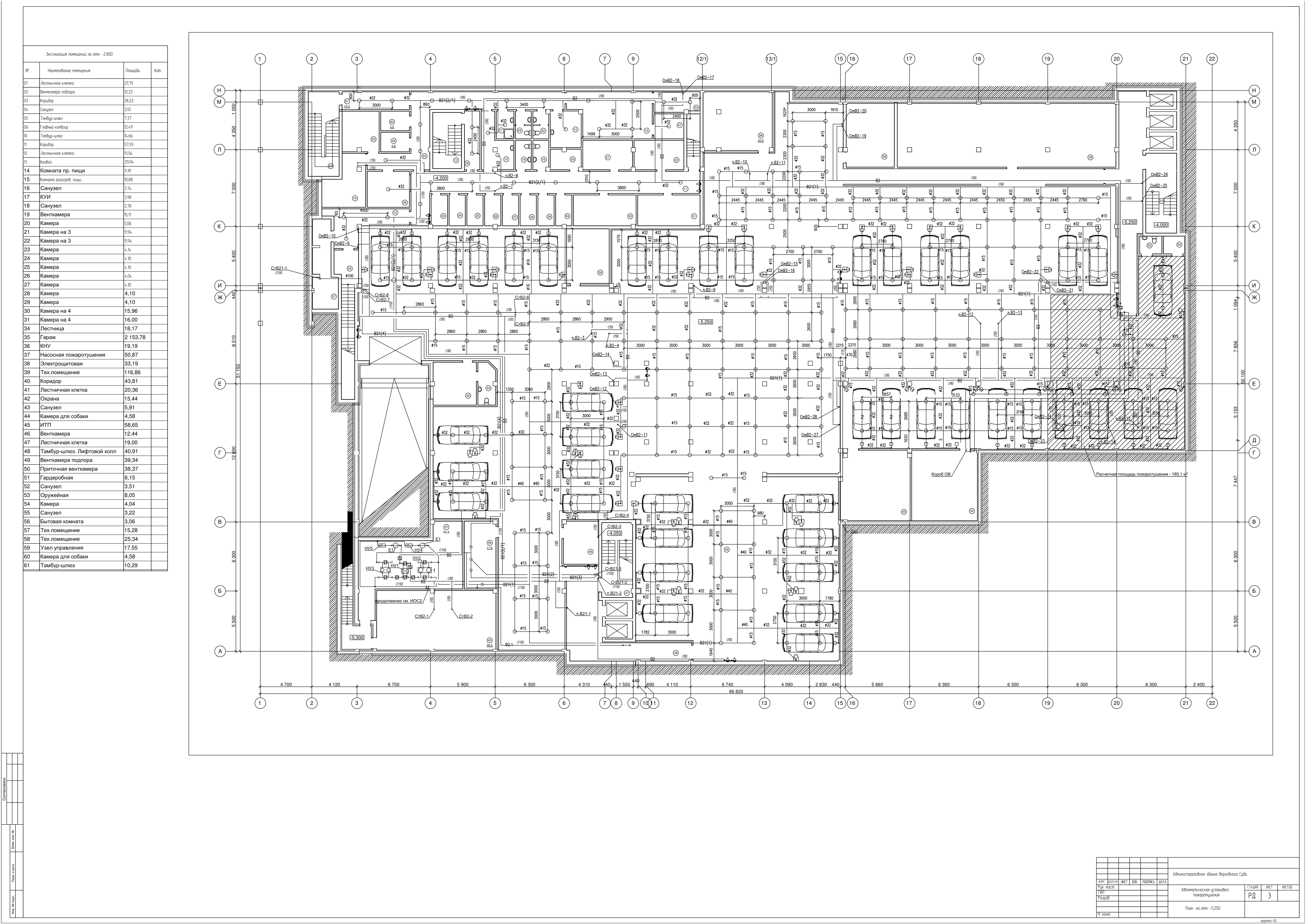 Проект водяного пожаротушения и трв административного здания