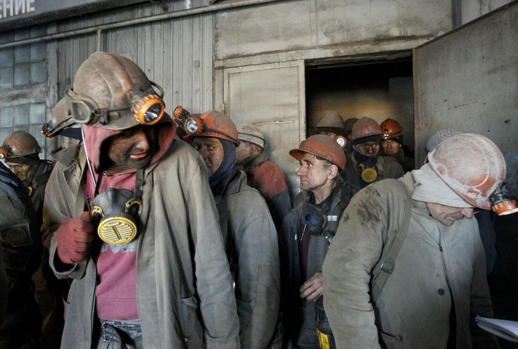 эвакуация шахтеров