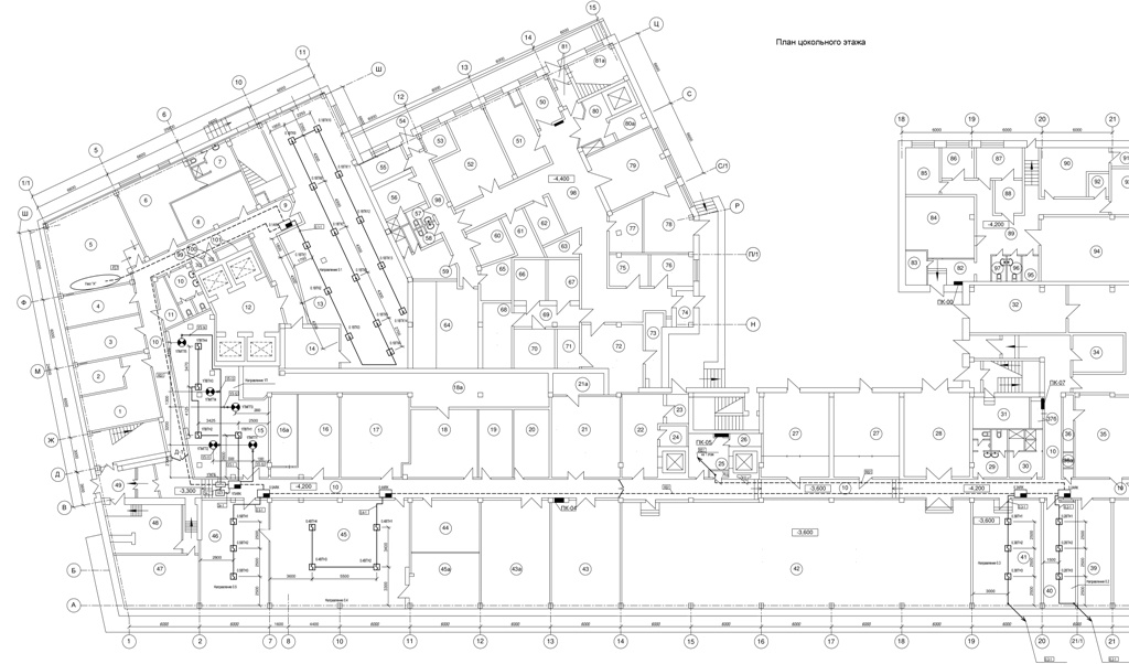 схема помещения в проекте автоматика ПТ