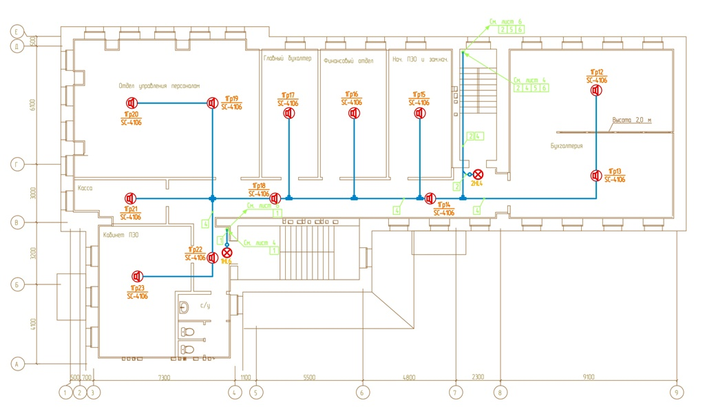 система управления эвакуцией