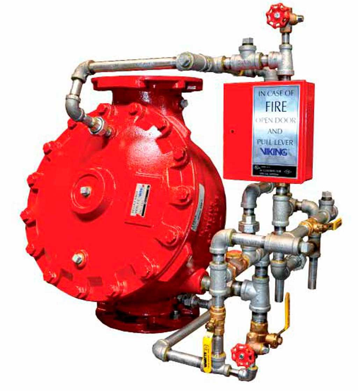 Дренчерный клапан пожаротушения, виды и обзор