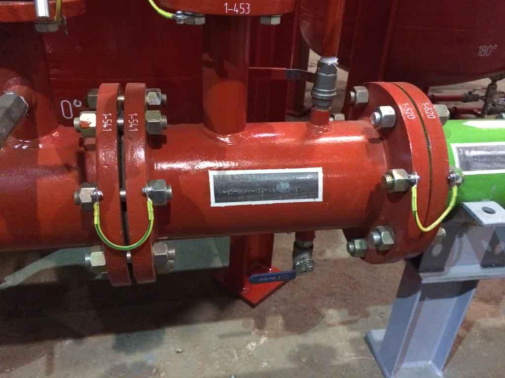 Маркировка трубопроводов пожаротушения