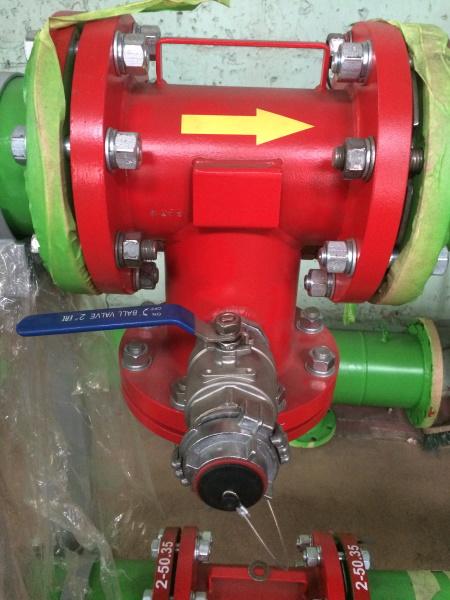 Толщина покрытия технического противопожарного трубопровода